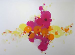Proximity, to magenta. 2013/2016. Acrylic and oil on canvas. 210cm x 300cm